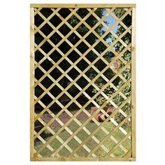 outdoor mirrors   Garden Mirror Lattice Screen