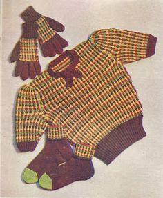 Chalk Cottage Knitting: Waffle Set 1940s