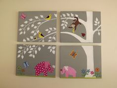 Custom Hand Painted Nursery Painting by KatieBBoutique on Etsy, $145.00