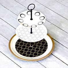 Nori Cake Stand, $99,  upcycled china by Fresh Pastry Stand !!