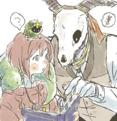 Elias & chise Anime/manga: the ancient magus bride Noragami, Kore Yamazaki, Tokyo Ghoul, Elias Ainsworth, Chise Hatori, Manga Anime, Anime Art, Yume, Chibi