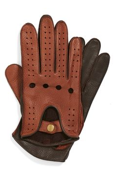 Men's leather driving gloves.