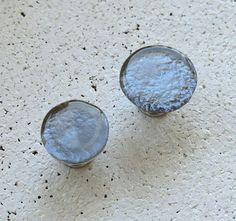 Round Glass Cabinet Knob in Metalic Grey. Fused by CityGlassStudio Glass Furniture, Furniture Handles, Cabinet Knobs, Cabinet Hardware, Kitchen Knobs, Glass Knobs, Grey Cabinets, Fused Glass, Round Glass