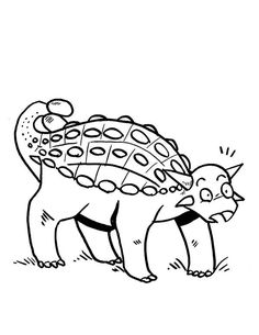 Ankylosaurus, : Ankylosaurus is Surprised Coloring Page Online Coloring Pages, Coloring Sheets, More Pictures, Some Fun, Free, Colouring Sheets, Printable Coloring Pages