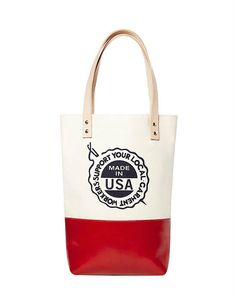 Fleabags: Ballet Tote in Garnet  -  part of the martha stewart american made collection on ebay.      lj