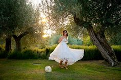 Our beautiful bride Rachelle remembers how happy she was last year on her wedding day at Villa San Crispolto...