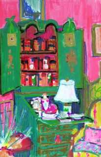 Anne's Desk - paint marker sketch by ©Candace Lovely - www.candacelovely.com/House%20of%20Gleason.htm