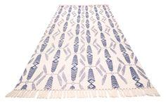 INDIAN SUMMER -matto 80 x 200 cm (Sininen)
