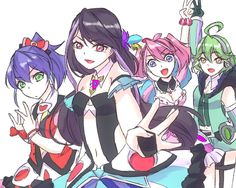 Serena, Ruri, Yuzu and Rin