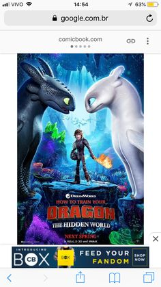 How to train your dragon 3 new poster