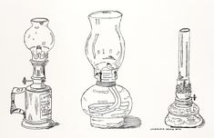 My oil lamp collection drawn with ink Sketches, Drawings, Painting, Illustration Art, Ink Drawing, Art, Ink, Draw