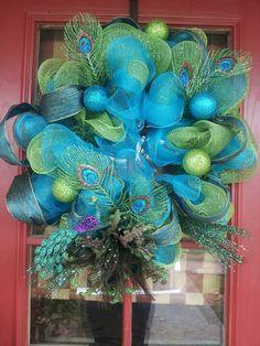 Peacock wreath - Love this!!