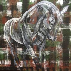 Contemporary equine fine art paintings for sale by Chanelle Zimmer in Bozeman, Montana or commission a portrait of your horse. Art Paintings For Sale, Horse Paintings, Dressage Horses, Fine Art, Contemporary, Portrait, Studio, Vintage, Check
