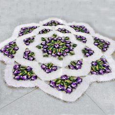 Crocheted Pattern mandala rug for the home on CrochetSquare.com