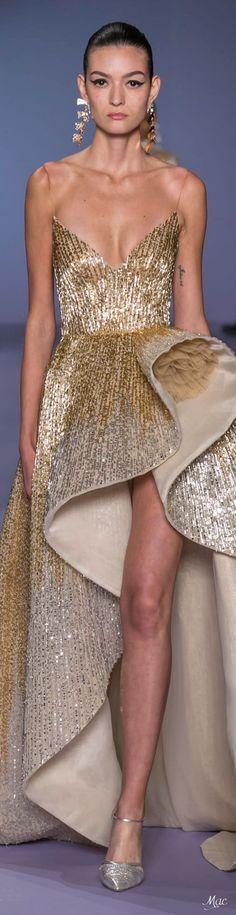 Georges Hobeika Spring 2020 Couture Source by nerdika gowns glamour Georges Hobeika, Elie Saab Spring, Fashion 2020, Runway Fashion, High Fashion, Gold Fashion, Fashion Details, Stephane Rolland, Christian Lacroix