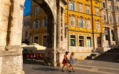 An ancient city full of Roman ruins, Pula is still flourishing thanks to the same industries that pu... - Getty Images