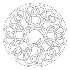 Mandalas for Painting: round mandalas