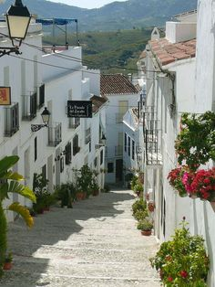 Village of Frigiliana. (the easternmost coastal towns in Málaga, Andalusia) Spain.