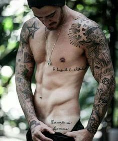 Sexy tattooed men