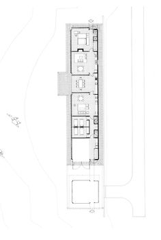 In a skinny house, think of the hallway as another room - Magney House Glenn Murcutt 1984 Plan Best House Plans, Modern House Plans, House Floor Plans, Arch Building, Building Plans, Wood Architecture, Architecture Drawings, Architecture Foundation, Floor Plan Drawing