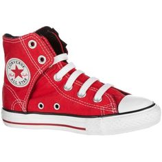 Red high top Converse....Jaylen should fit into these by spring!