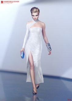 If there's one thing every costume in Mirror's Edge: Catalyst has in common, it's that they all look like they walked right off the runway of some sci-fi fashion show.