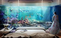 #Underwater futuristic #Dubai luxury retreat with breathtaking panoramic views of the #sea life