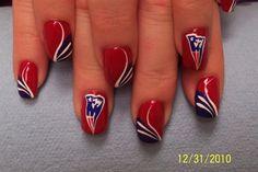 Patriots Nail Art