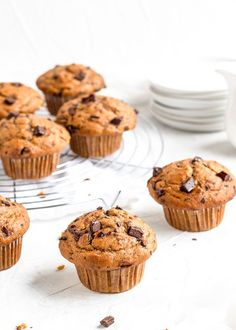These pumpkin banana muffins are soft, moist, filled with chocolate chunks, and bursting with Fall flavours. Dairy free and so easy! Dairy Free Cookie Dough, Dairy Free Baking, Dairy Free Dessert Recipes Easy, Dairy Free Breakfasts, Best Pumpkin Muffins, Pumpkin Pie Spice, Baked Banana, Fall Baking