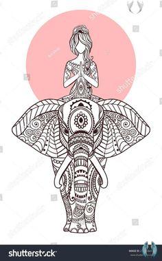 Ornament Beautiful Card Vector Yoga Geometric Stok Vektör (Telifsiz) 275964419 Ornament beautiful card with Vector yoga. Geometric element hand drawn. Perfect  cards for any other kind of design, birthday and other holiday, kaleidoscope,  medallion, yoga, india, arabic<br> Mandala Tattoo, Mandala Art, Flying Pigeon Pose, Yoga Illustration, Crow Pose, Birthday Design, 13 Birthday, Yoga Art, Yoga India