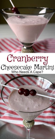 Make a Cranberry Cheesecake Martini for your next party! This cocktail is decadent and yet so easy to make, perfect for the holiday season. Party Drinks Alcohol, Drinks Alcohol Recipes, Yummy Drinks, Delicious Desserts, Alcoholic Drinks, Drink Recipes, Fruit Drinks, Christmas Drinks, Holiday Drinks