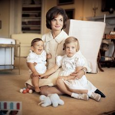 Jackie with Caroline and John, Jr.