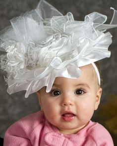 Full Fascinator White, Tea Party, Flower Girl Hat