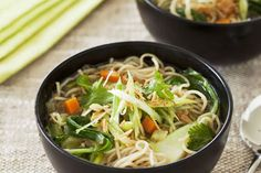 Vegetable noodle soup recipe, NZ Womans Weekly – A light and healthy dinner your family will love this little gem - Eat Well (formerly Bite) Asian Recipes, Ethnic Recipes, Asian Foods, Vegetable Noodle Soup, Carrot And Ginger, Oyster Sauce, Fresh Coriander