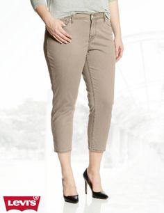 87d959273b3 Levi's Women's Plus-Size Mid Rise Skinny Crop Jean 15480 Plus Size Blouses,  Plus