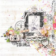 Crafting ideas from Sizzix UK: A Siblings Layout from Gerry