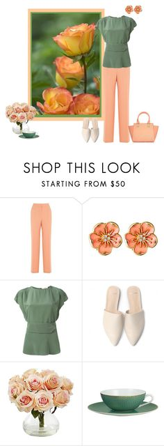 """Untitled #1536"" by milliemarie ❤ liked on Polyvore featuring Warehouse, Ciner, Dorothee Schumacher, Nearly Natural and Raynaud"