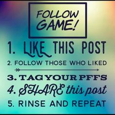 Follow everyone  Like this, share it, & follow everyone who likes it :)! Other