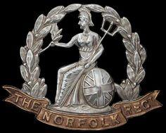 norfolk regiment cap badge