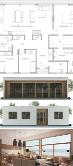 Floor Plan, Home Plan, House Plans #homeplans #floorplans #houseplans #newhomeplans #housedesigns #architecture Beach House Plans, New House Plans, Floor Plans, House Design, Flooring, How To Plan, Mansions, Architecture, House Styles