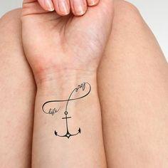 Anker Liebesleben Tätowierung 2-er Set von Tattify auf Etsy