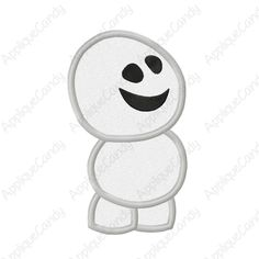 Cold Little Snowman Applique Embroidery Design 4x4 5x7 6x10 Fever INSTANT DOWNLOAD by AppCandyEmbroidery on Etsy