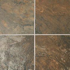 Kitchen backsplash tile - Terrain Maron (Daltile Franciscan Slate Floor or Wall Porcelain Tile) Slate Flooring, Flooring Options, Kitchen Flooring, Flooring Ideas, Porch Tile, Balcony Flooring, Best Floor Tiles, Master Shower, Master Bath