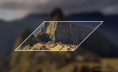 Geometric Art: Parallelogram on blurred background of Machu Picchu Parallel And Perpendicular Lines, Teaching Geometry, Blurred Background, Machu Picchu, Geometric Art, Peru, Turkey