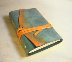 Tropical  Leather Journal Handmade Leather Journal by Baghy, $42.00