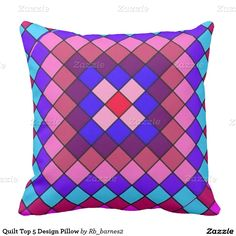 Quilt Top 5 Design Pillow