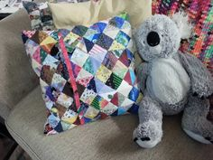 patchwork pillow case back