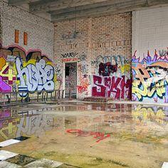 AP Skyline Photography.  Abandoned Building. Urban Exploration. Minnesota. Graffiti.