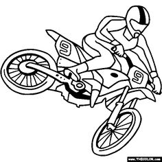Motocross Bike Coloring Page | Color Motocross