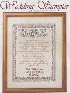 Wedding Sampler Cross Stitch Pattern  Wedding by PaperButtercup